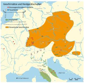 Geschirrsätze und Herdgerätschaften aus der Eisenzeit
