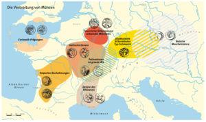 Die Verbreitung von Münzen in der Eisenzeit