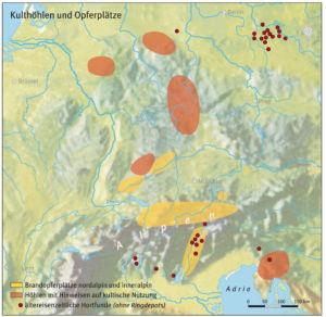 Kulthöhlen und Opferplätze aus der Eisenzeit