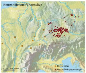 Herrenhöfe und Fürstensitze während der Eisenzeit