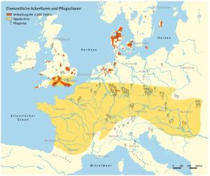 Eisenzeitliche Ackerfluren und Pflugscharen