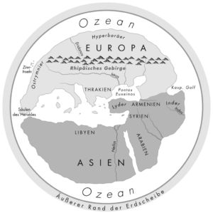 Die Erde im früh griechischen Weltbild des 6. Jahrhundert v. Chr.