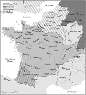 Die Bevölkerung Galliens nach Cäsar