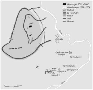 Der Mont Lassois und seine Gräber