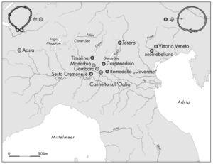 Verbreitung keltischer Halsringe in Oberitalien