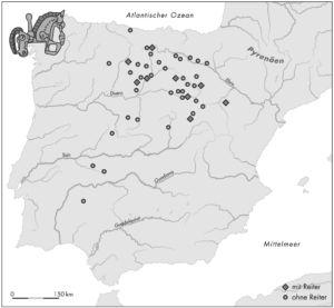 Verbreitung der keltiberischen Reiterfibeln