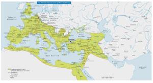 Das Römische Reich in seiner größten Ausdehnung