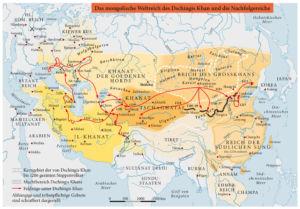 Das mongolische Weltreich des Dschingis Kahn und die Nachfolgereiche