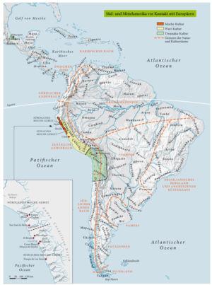 Süd- und Mittelamerika von Kontakt mit Europäern