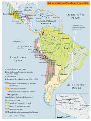 Reiche in Süd- und Mittelamerika um 1500