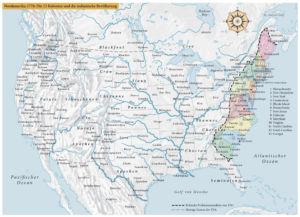 Nordamerika 1776: Die 13 Kolonien und die indianische Bevölkerung