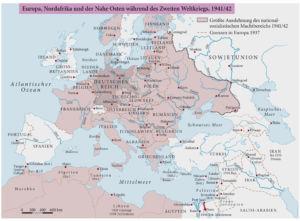 Europa, Nordafrika und der Nahe Osten während des zweiten Weltkriegs, 1941/42