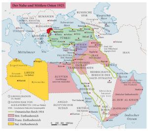 Der Nahe und Mittlere Osten 1925