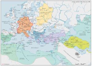 Europa und der Nahe Osten um 1000