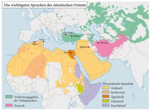 Die wichtigsten Sprachen des islamischen Orients