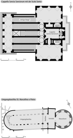 Cappella Sancta mit der Scala Santa / Umgangsbasilika SS. Marcellino e Pietro