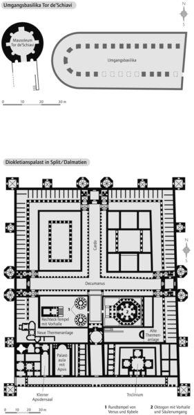 Umgangsbasilika Tor de´Schiavi / Diokletianpalast in Split/Dalmatien