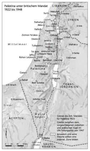 Palästina unter britischem Mandat 1922 bis 1948