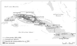 Kuba Zucker 1830 und 1850