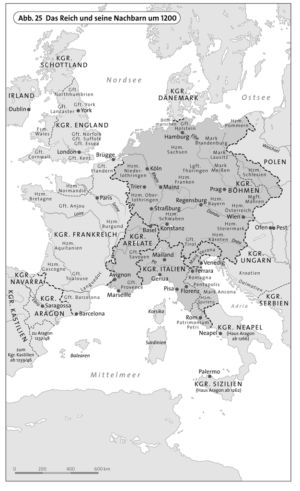 Das Reich und seine Nachbarn um 1200