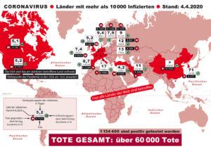 Eine Pandemie erschreckt die Welt