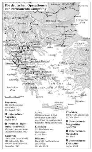 Partisanenbekämpfung in Griechenland