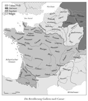 Die Bevölkerung Galliens nach Caesar
