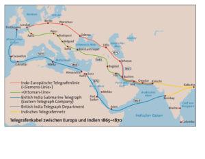 Telegrafenkabel zwischen Europa und Indien 1865-1870