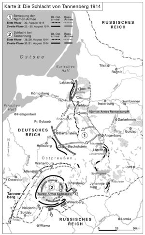 Die Schlacht von Tannenberg 1914