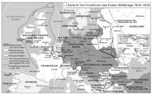 Die Frontlinien des Ersten Weltkriegs 1914-1918