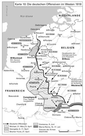 Die deutschen Offensiven im Westen 1918