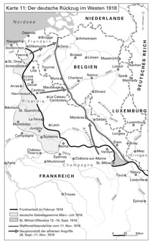 Der deutsche Rückzug im Westen 1918