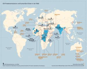 UN-Friedensmissionen und humanitäre Krisen in der Welt